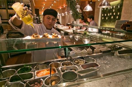 Fig & Olive restaurant, near New York's Rockefeller Center
