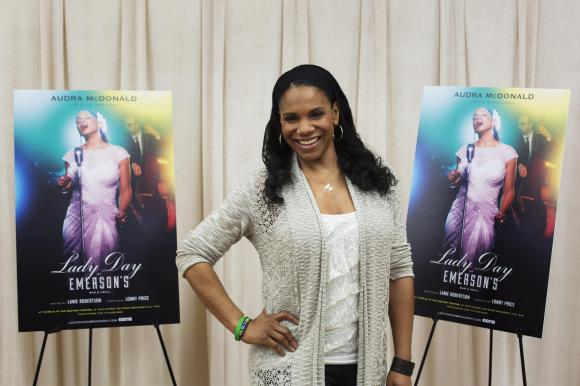 """Actress Audra McDonald poses for a photograph while promoting the play """"Lady Day at Emerson's Bar and Grill"""" in New York"""