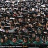 Graduating students attend their spring commencement ceremony at Ohio State University
