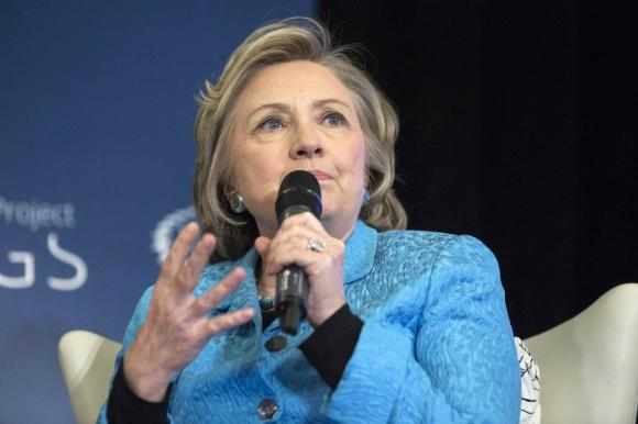 Hillary Clinton participates in A No Ceilings Conversation at Lower Eastside Girls Club in New York