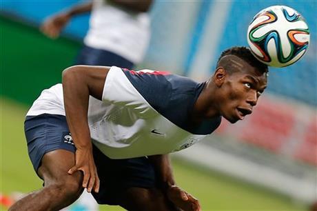 France's midfielder Paul Pogba