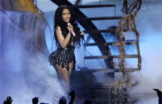 Nicki Minaj performs at the BET Awards