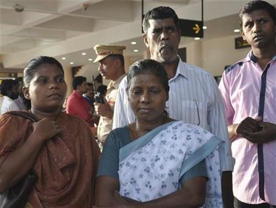 Family members of Indian nurses