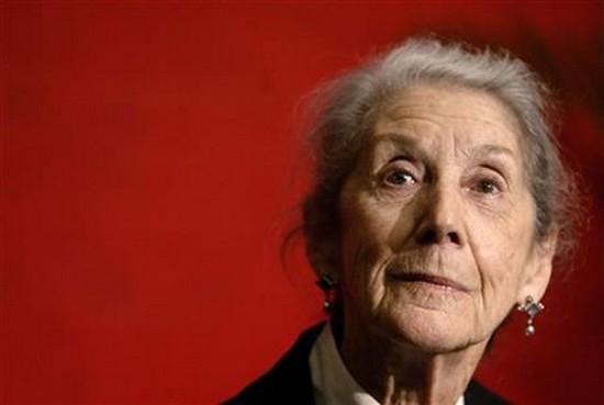 Nobel Prize-winning author Nadine Gordimer, of South Africa