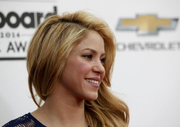 Singer Shakira arrives at the 2014 Billboard Music Awards in Las Vegas