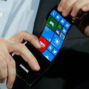 Samsung showed off flexible display prototypes in 2013