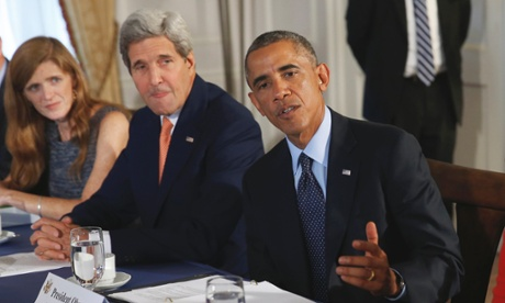 Barack Obama, Secretary of state John Kerry ,UN Samantha Power.