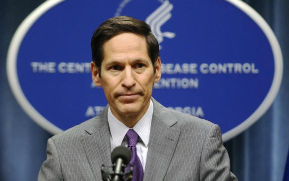 CDC Director, Dr. Thomas Frieden, speaks at the CDC headquarters in Atlanta