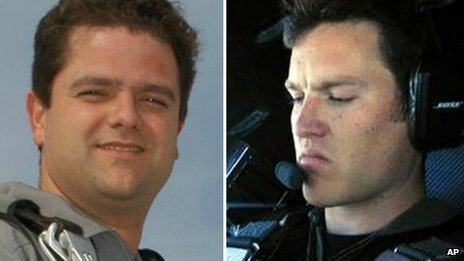 Peter Siebold, left, survived the incident but his co-pilot, Michael Alsbury, died