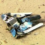 Wreckage from Virgin Galactic's SpaceShipTwo is shown in this still image captured from KNBC video footage from Mojave California