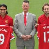 Daley Blind and Radamel Falcao