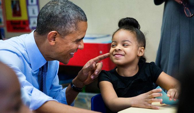 President Obama and Akira Cooper, 4