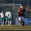 Al Ahly's Sobhy celebrates with team mates after scoring a goal against Al Masry at El-Gouna stadium in Hurghada