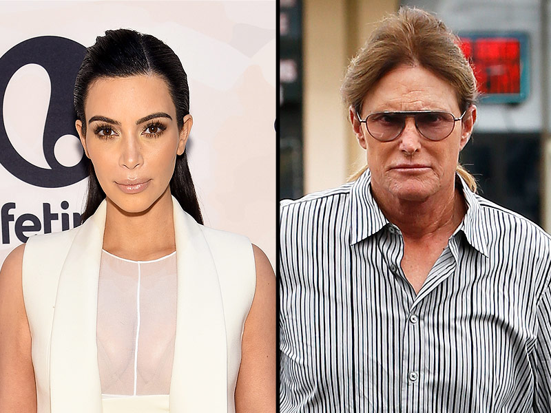 Kim Kardashian West and Bruce Jenner