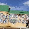 Cuban-themed murals adorn SW 8th Street in Little Havana, Miami