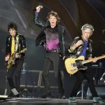 British veteran rockers The Rolling Stones lead singer Jagger performs next to bandmates during concert in Nashville