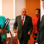 South Africa's President Jacob Zuma leaves after a summit on health and sanitary security in Lyon