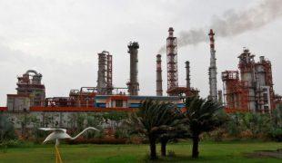An oil refinery of Essar Oil