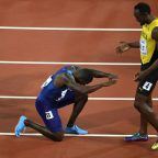 Justin Gatlin and Usain Bolt