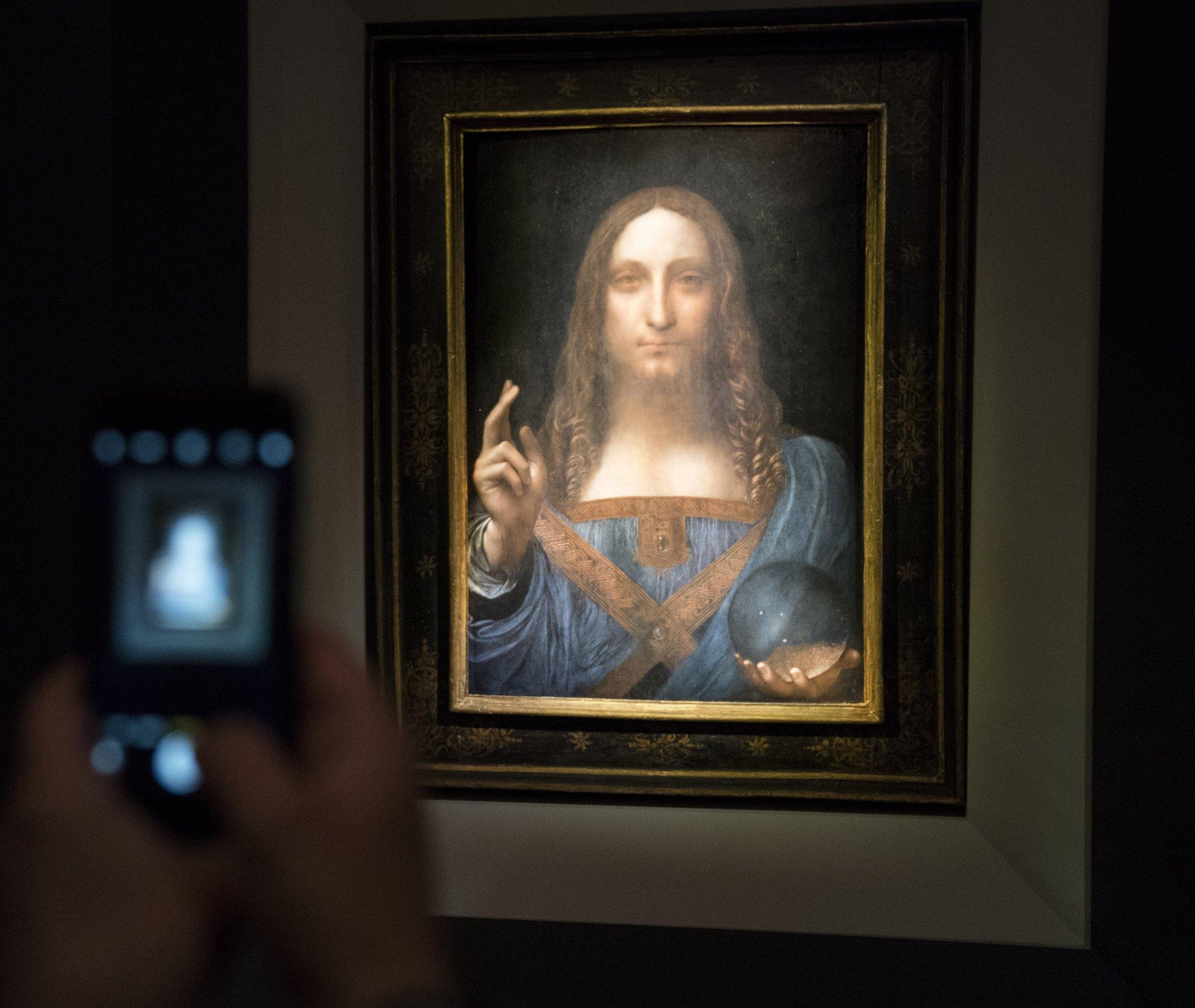 The painting Salvator Mundi by Leonardo da Vinci